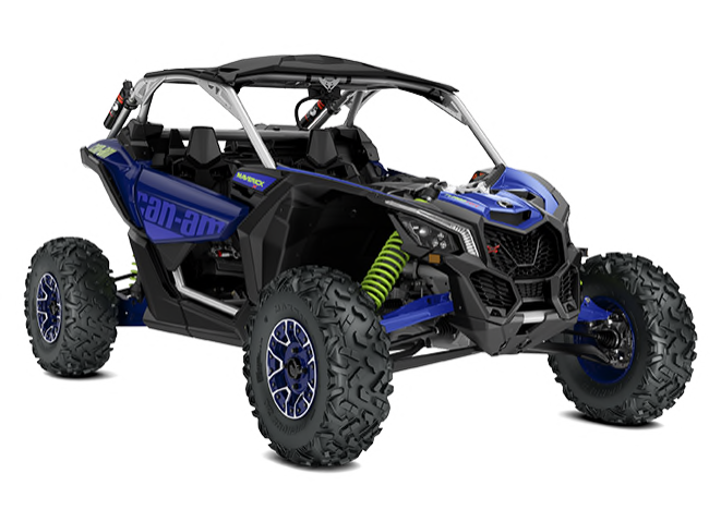 Maverick X3 X RS Turbo RR hyper-silver-intense-blue-manta-green